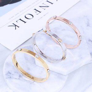 Henri Bendel Oval Openable Rivet Diamond Bracelet